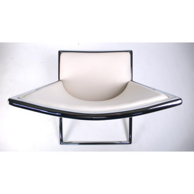 Silver Scissor Lounge Chairs by Ward Bennett For Sale - Image 8 of 9