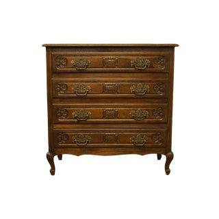 1940s Vintage Louis XVI French Regency Walnut Chest of Drawers For Sale