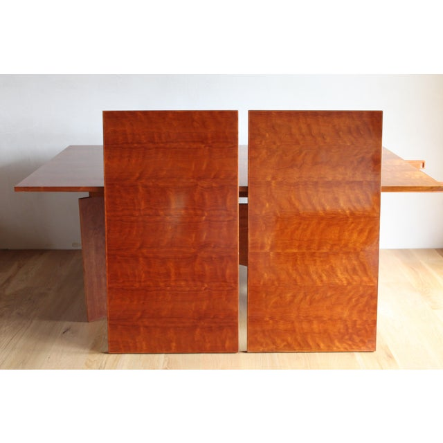 Vintage Custom Usonian Frank Lloyd Wright Taliesin Style Prairie Arts and Crafts Cherry Expanding Dining Table, Seats 8-16+ For Sale - Image 9 of 13