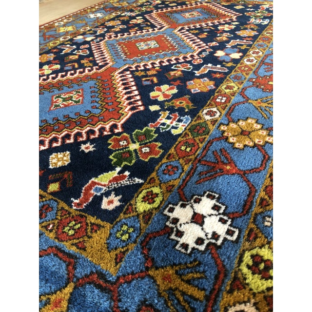 "1950s Vintage Hand-Knotted Wool Tribal Afshar Rug-3'6""x5'1"" For Sale - Image 12 of 13"