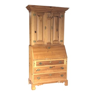 Thomasville Replica 1800 Pine Secretary Desk For Sale