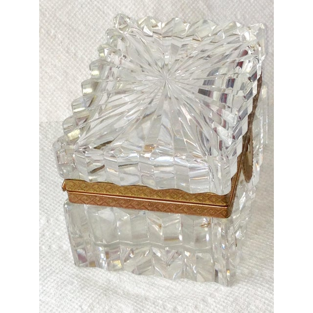 French Cut Crystal Banded Jewelry Box - Image 4 of 4