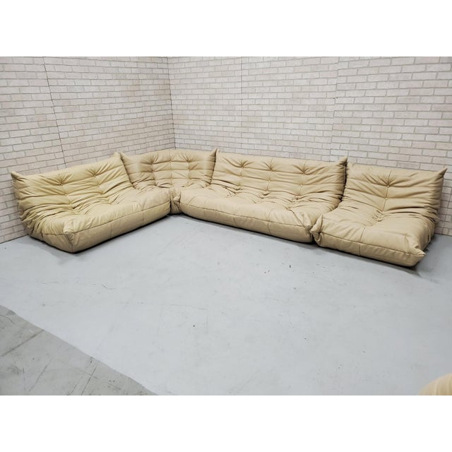 Mid-Century Modern Mid Century Medern Togo Sofa Set by Michel Ducaroy for Ligne Roset - 5 Piece Set For Sale - Image 3 of 11