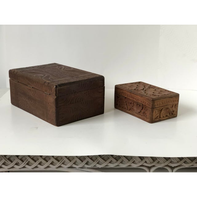 English Wooden Carved Boxes, 19th Century - a Pair For Sale In Atlanta - Image 6 of 13