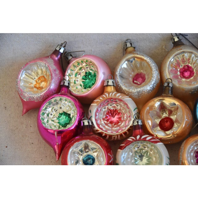 Mid 20th Century Vintage Fancy Indent Christmas Ornaments W/Box - Set of 12 For Sale - Image 5 of 9