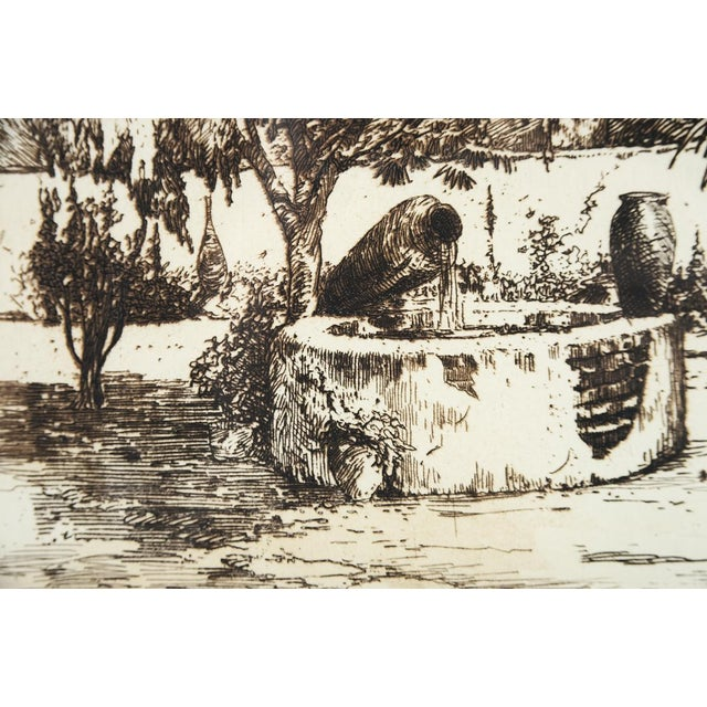 'Wishing Well' Original Etching Art - Image 4 of 7