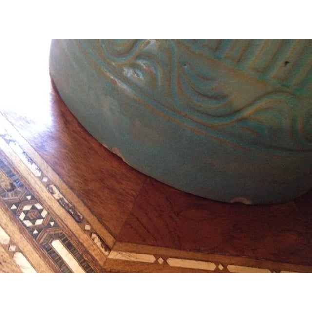 Mid Century Large Moorish Blue Ceramic Urns With Lid - a Pair For Sale - Image 9 of 10