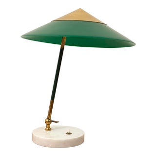 Elegant Table Lamp by Stilux Milano in Brass, Marble and Perspex. Italy, 1950s. For Sale