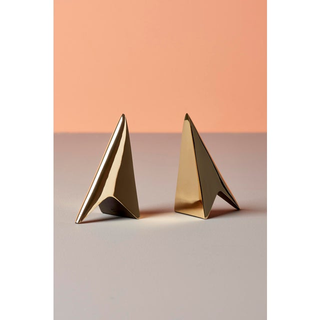 Metal Pair of Carl Auböck Bookends in a Patina and Polish Brass Mix For Sale - Image 7 of 8