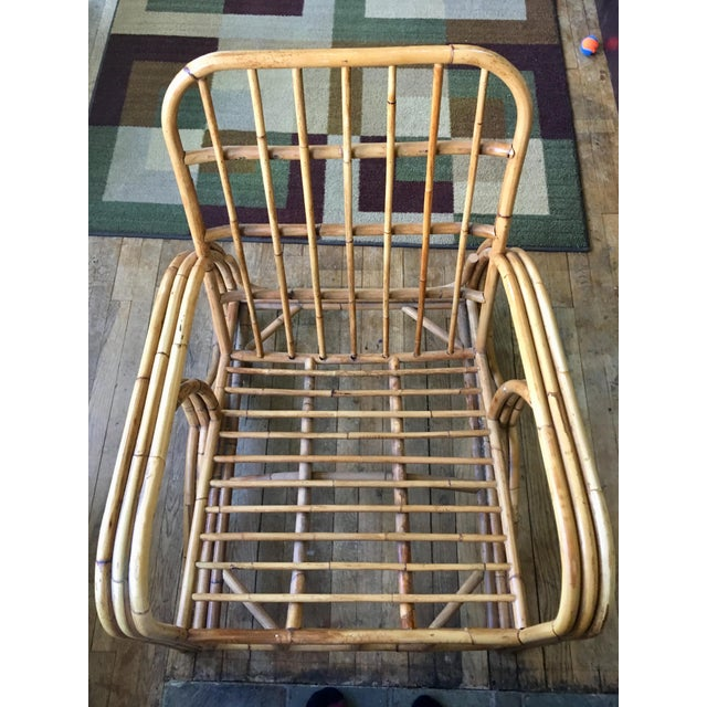 Mid-Century Modern Bamboo Club Chair - Image 7 of 10