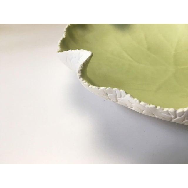 Vintage Cabbage Leaf Decorative Platter For Sale In New York - Image 6 of 10