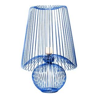 Oversized Metal Floor Lamp Koy in Blue For Sale