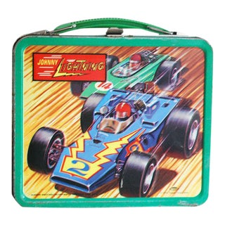 1970s Johnny Lightning Lunchbox, Aladdin Lunch Box