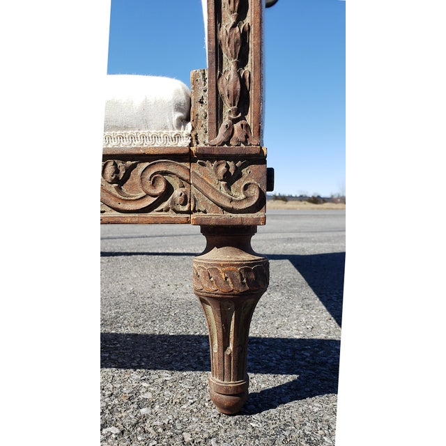 19th Century French Empire Hand Carved Twin Daybed For Sale In New York - Image 6 of 10