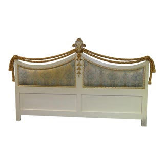1960s Vintage Baroque Style King Size Headboard For Sale
