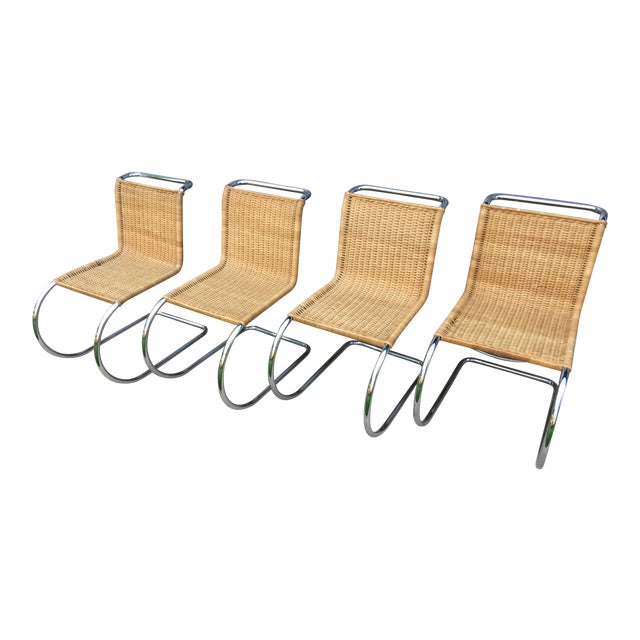 Mies Van Der Rohe M10 Dining Chairs - Set of 4 - Image 1 of 11
