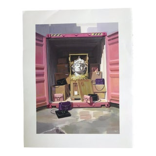 Pop Art Gucci Pink Storage Bust & Handbag Print