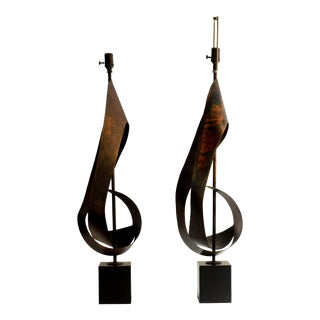 Harry Balmer Ribbon Table Lamp - a Pair For Sale