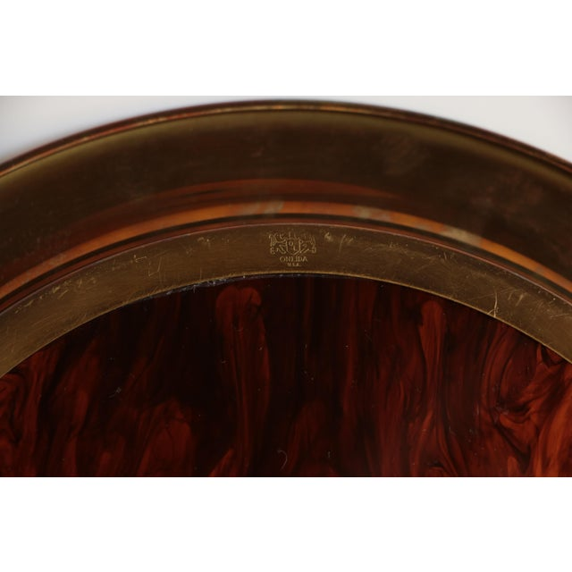 Oneida Faux Tortoiseshell Serving Tray For Sale In Madison - Image 6 of 6
