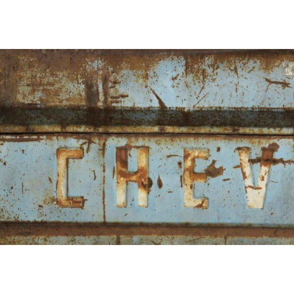 Vintage Blue Chevy Pickup Truck Tailgate Door - Image 2 of 5