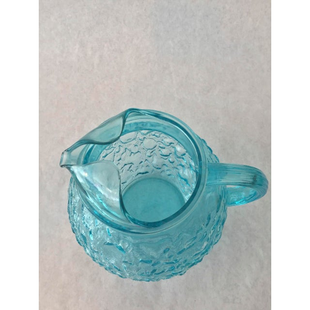 Cottage Anchor Hocking Aqua Lido Pitcher For Sale - Image 3 of 5
