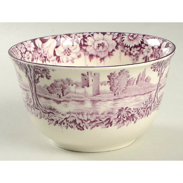 Purple Early 20th Century Wood & Sons Castles Purple Cranberry Bowl For Sale - Image 8 of 8