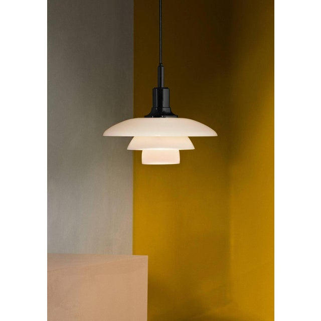 Poul Henningsen Brass and Glass Ph 3½-3 Pendant for Louis Poulsen For Sale In Los Angeles - Image 6 of 12