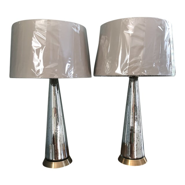 Arterior Tapered Gold Iridescent Lamps - a Pair For Sale
