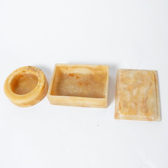 Polished Onyx Trinket Box & Dish - A Pair - Image 4 of 5