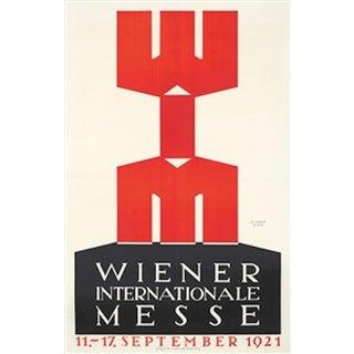 1921 Austrian Art Deco Poster For Sale