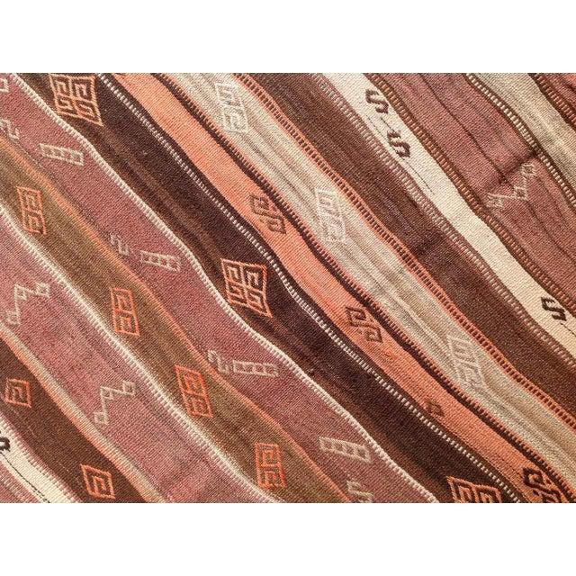 Vintage Turkish Kilim Rug - 5′6″ × 6′11″ - Image 6 of 7