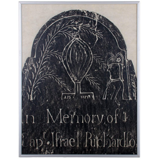 Early New England Gravestone and Marker Rubbings - Set of 3 For Sale - Image 4 of 7