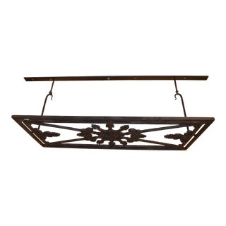 French Farm Reclaimed Wrought Iron Gate Pot Rack For Sale