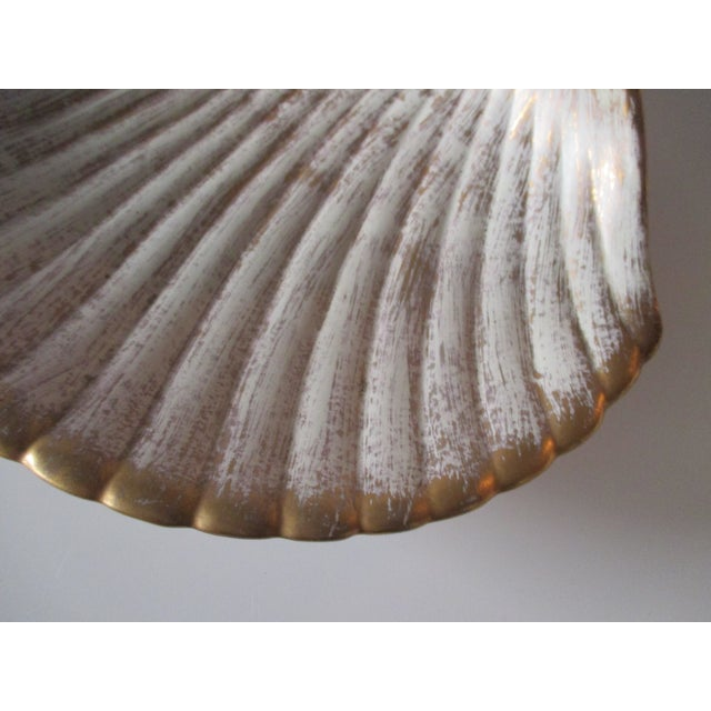 Large Mid-Century Modern Shell Decorative Serving Dish For Sale - Image 4 of 7