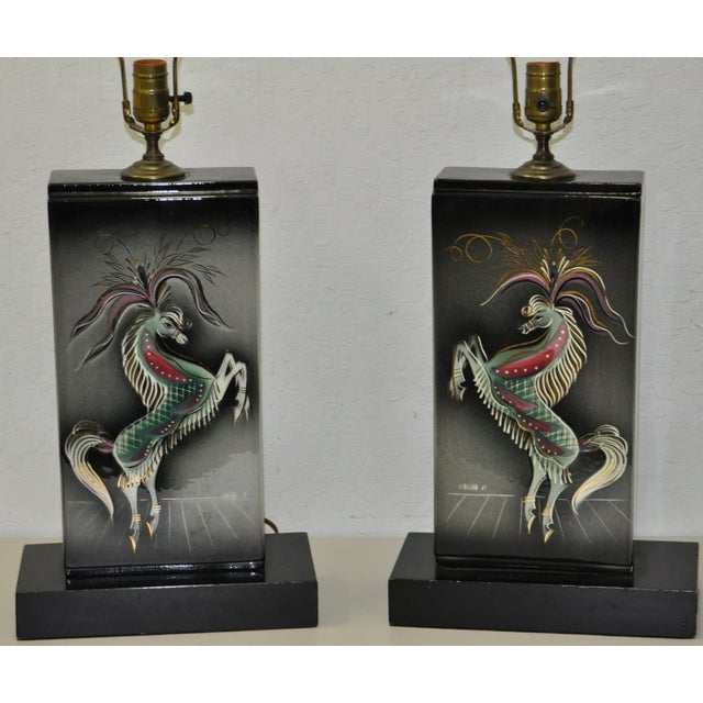 Sascha Brastoff Mid-Century Modern Lamps - Image 4 of 10