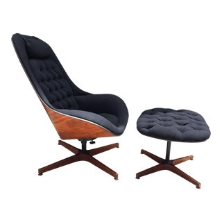 1960s Mid Century Modern George Mulhauser for Plycraft Lounge Chair and Ottoman - 2 Pieces