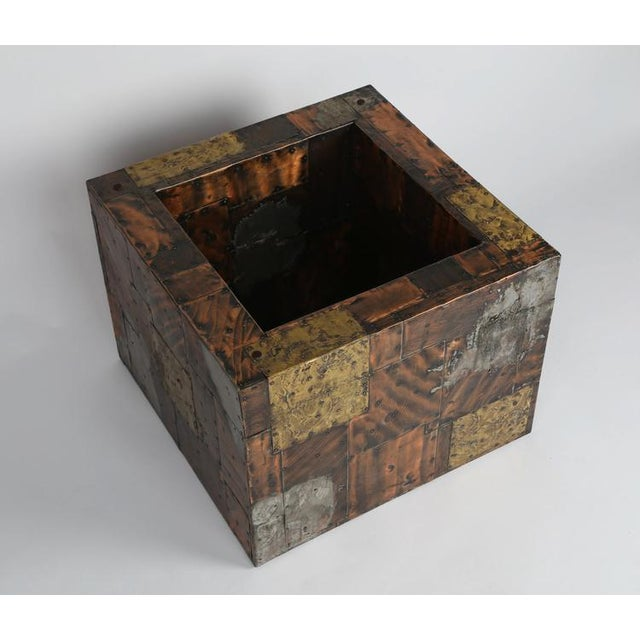 PAUL EVANS PEWTER, BRASS AND COPPER PATCHWORK COCKTAIL TABLE, CIRCA 1970S - Image 4 of 7