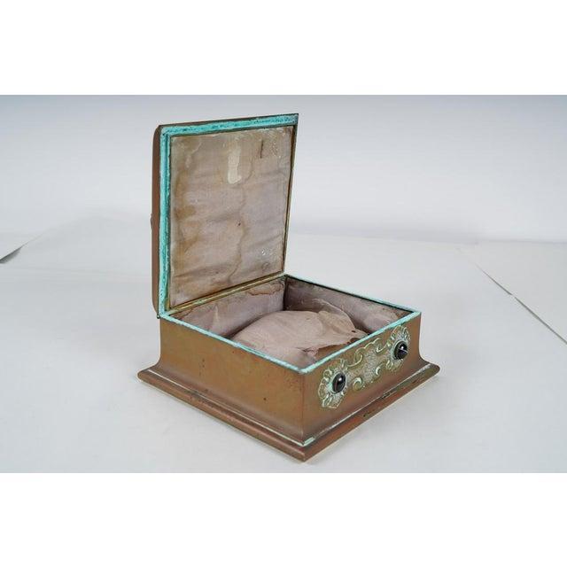 Antique Banded Agate & Brass Renaissance Style Box