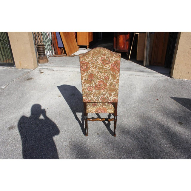 1900s Vintage French Louis XIII Style Os De Mouton Dining Chair For Sale In Miami - Image 6 of 13