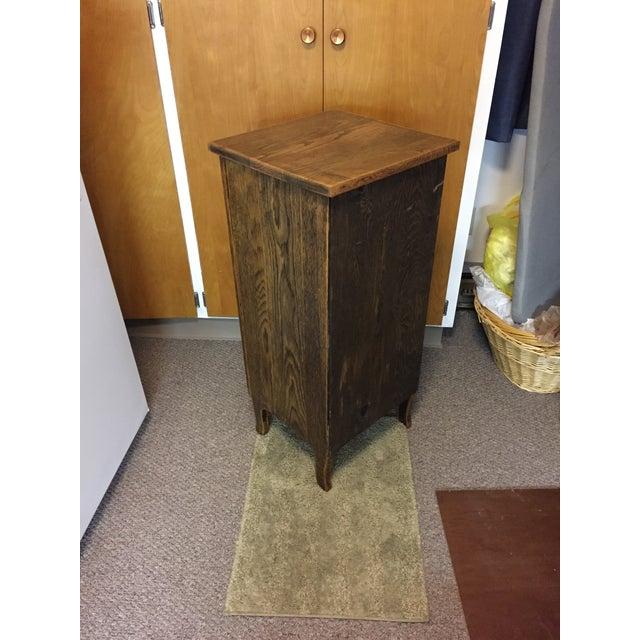 Vintage Oak Record Cabinet For Sale - Image 5 of 6
