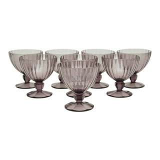 Lavender Fruit / Sundae Stemware - Set of 8 For Sale