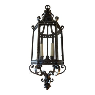 French Vintage Iron Lantern For Sale