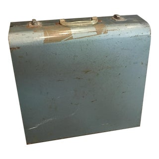 "Vintage Metal Picnic ""Suitcase"" For Sale"