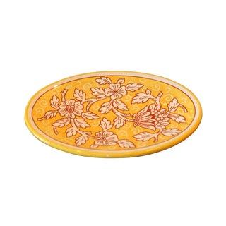Vintage Italian Hand Painted Decorative Floral Platter For Sale