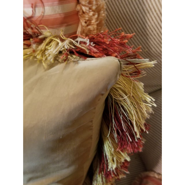 2000 - 2009 Large Aubusson Style Parrot Pillow For Sale - Image 5 of 10
