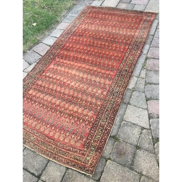"Antique Hamadan Rug - 3'4"" X 6'6"" - Image 3 of 9"