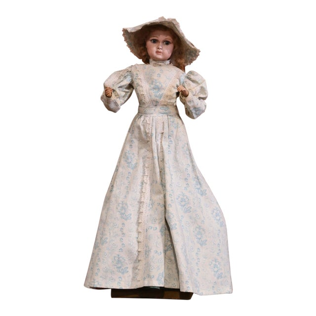 Tall 19th Century French Porcelain Musical Automaton Jumeau Doll For Sale