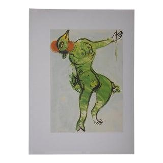 Vintage Marc Chagall Lithograph-Folio Size-c.1969