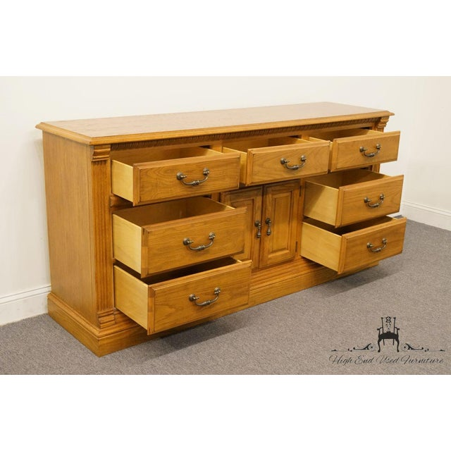 """American Drew Country French Oak 72"""" Triple Door Dresser For Sale In Kansas City - Image 6 of 13"""