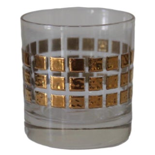 Midcentury Golden Squares Cocktail Glasses, S/8 Preview